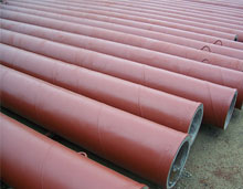 cast basalt lined steel pipe