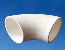 wear resistant ceramic elbow