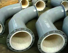 alumina ceramic lined steel pipe