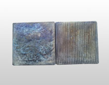 front and back side of cast basalt tile