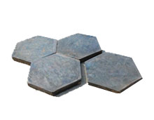 hexagonal cast basalt tile